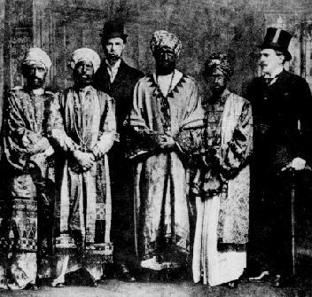The Abyssinian delegation